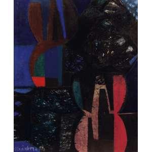 Frans Krajcberg - Sem Título - OST - 60 x 50 - 1958 - ACIE e Verso - Ex-coleção Manabu Mabe