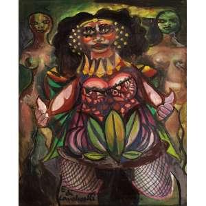 Emiliano Di Cavalcanti - Carnaval no Bordel - OST - 65 x 50 - 1972/1973 - ACIE e Verso