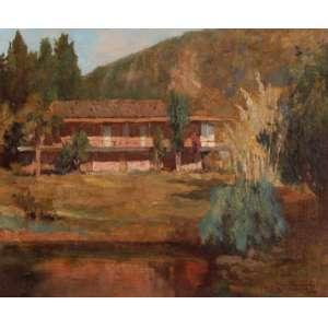 Edgar Parreiras - A Velha Fazenda - OST - 48 x 63 - 1941 - ACID - Carimbo no verso do Salão Nacional de Belas Artes - SNBA