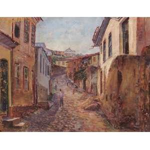 Genesco Murta - Rua do Aleijadinho – Ouro Preto - OST - 50 x 65 - 1951 - ACIE