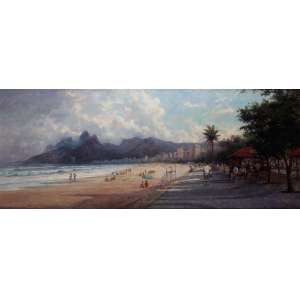 """Mauro Ferreira - """"Tardinha em Ipanema""""com Pedra da Gávea e dois irmãos - OST - 80 x 200 - ACID"""