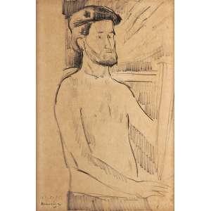 Emeric Marcier - Auto Retrato - Crayon s/ Tela - 48 x 35 - 1956 - ACIE