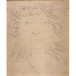 Cândido Portinari - Cabeça de Menina - Desenho a grafite e lápis de cor - 20 x 16,5 - 1958 - Reproduzido no Raisoneé Vol. IV pág. 377 AEC 4412 FCO 2900