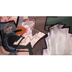 Luís Áquila - Amarelo Óxido - AST - 110 x 200 - 1990 - ACID e Verso - Cachet da Galeria Montesanti - SP