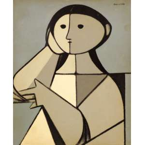 Milton Dacosta - Figura – Fase Alexandre - OST - 28 x 23 - 1961 - ACSD e Verso