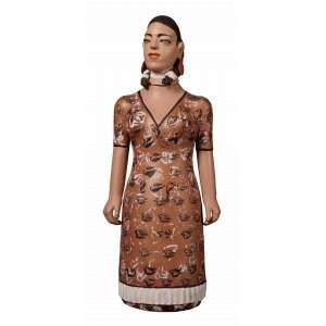 D. Isabel - Maria Chiquinha - Cerâmica - 80 x 35 x 22 - Ass. Base