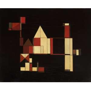Maria Leontina - Composição Concreta - OST - 38 x 46 - 1958 - ACID e Verso
