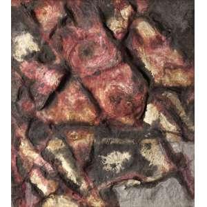 Frans Krajcberg - Sem Título - Óleo s/ Papel moldado em Tela - 84 x 71 - 1963 - Ass. Verso