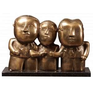 Inos Corradin - Dona Flor e Seus Dois Maridos - Bronze - 33 x 23 x 10 - Ass. Base