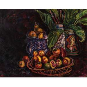Sérgio Telles - Frutas - OST - 80 x 100 - 2010 - ACID e Verso - Obra reproduzida no catálogo da exposição individual do artista. Galeria TNT Rio - 2011