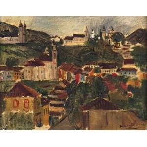 Emeric Marcier - Vista Geral de Ouro Preto - OSTCSM - 20 x 30 - 1952 - ACID