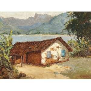 Anita Malfatti - Paisagem à Beira Mar - OST - 46 x 61 - Déc. 50 - ACID - Obra com expertização da família