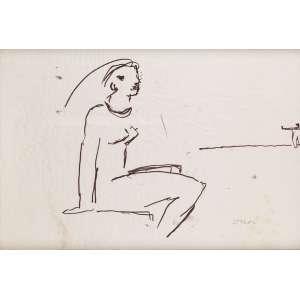 Oscar Niemeyer - Vera - Nanquim - 35 x 50 - ACID Oscar - Proveniente da coleção Oscar Niemeyer Neto
