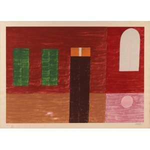 Alfredo Volpi - Fachada - Serigrafia HC - 55 x 75 - Ass. Canto inferior direito