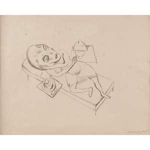 """Lasar Segall - Mulher deitada Série """"Rua Bubu"""" - Litho - 46 x 55 - 1921 - Ass. Canto inferior direito - Reproduzido no livro """"A gravura de Lasar Segall"""""""