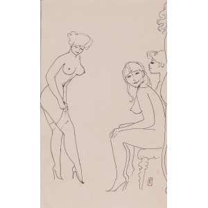 Floriano Teixeira - Bordel - Desenho a nanquim - 30 x 19 - Ass. Canto inferior direito