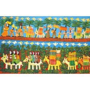 Antônio Poteiro - Fuga para o Egito - Óleo sobre tela - 90 x 140 - 2005 - Ass. Canto superior direito