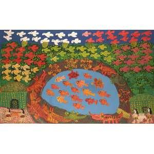 Antônio Poteiro - Reis do Pantanal - Óleo sobre tela - 90 x 140 - 2007 - Ass. Canto inferior direito e Verso
