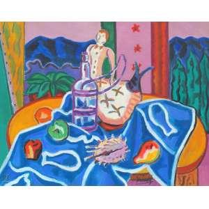 Inimá de Paula - Homenagem à Cezanne - Óleo sobre tela - 73 x 92 - 1998 - Ass. Canto inferior direito - Catalogado pela fundação Inimá de Paula COD. NM0019