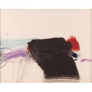 Manabu Mabe - Abstrato - Acrílica sobre chapa - 48 x 60 - 1985 - Ass. Canto inferior direito e Verso - Catalogado pelo Instituto Manabu Mabe. No verso cachet da Galeria Contorno