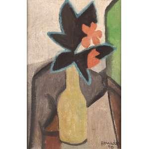 Aldo Bonadei - Vaso de flores - Óleo sobre tela - 40 x 30 - 1970 - Ass. Canto inferior direito