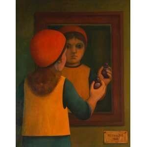 Reynaldo Fonseca - Reflexos - Óleo sobre tela - 100 x 80 - 1968 - Ass. Canto inferior direito