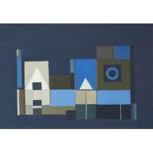 """Maria Leontina - """"Cena I"""" - Óleo sobre tela - 38 x 55 - 1958 - Ass. Verso"""