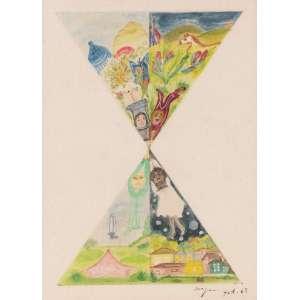 Ivan Serpa - Sem Título - Aquarela - 37 x 51 - 1965 - Ass. Canto inferior direito