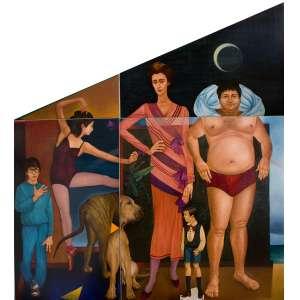João Câmara - Família Gachet - Óleo sobre madeira - 266 x 287 - Olinda 1981 - Ass. Canto inferior direito