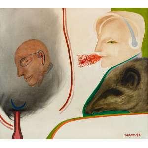 Siron Franco - O mago - Óleo sobre tela - 80 x 90 - 1983 - Ass. Canto inferior direito