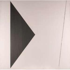 """Amílcar de Castro - """"Série Linhas"""" - Óleo e Acrílica sobre tela - 130 x 130 - 1990 - Ass. Verso - Catalogado no Instituto Amílcar de Castro SOB Nº 01.13.020944 ID ACV DES 1413"""