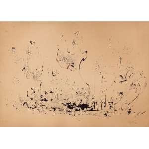 """Anatol Wladyslaw - """"Desenho 41"""" - Aquarela - 50 x 36 - 1962 - Ass. Canto inferior direito - Cachet no verso da VII Bienal de São Paulo 1963. Situado à pág. 102 do catálogo da bienal."""