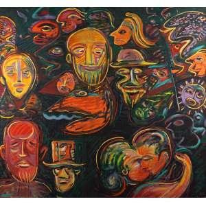 "Rubens Gerchman - ""Brazilian Dream 2"" - Óleo sobre tela - 180 x 190 - 1990/1991 - Ass. Verso"