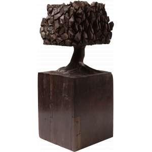 José Bento - Árvore - Escultura em madeira - 30 cm - Ass. na base