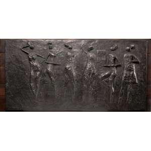 Carybé - Figuras - Placa de ferro - 50 x 100 - Ass. Verso