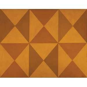 Arcângelo Ianelli - Balé das formas - Tempera sobre tela - 80 x 100 - 1973 - Ass. Canto inferior direito e Verso - Catalogado pelo instituto Ianelli COD BTST20