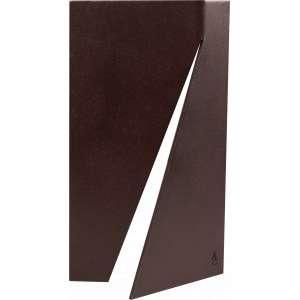 Amílcar de Castro - Aço com corte e dobra vertical - 25 x 13 x 0,3 - Ass. com monograma – Peça única - Registrada no Instituto Amílcar de Castro SOB Nº 01.17.02.01.3787. Certificado CA 000.38312