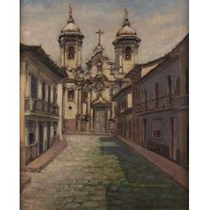 Genesco Murta - Igreja Nossa Senhora do Pilar – Ouro Preto - Óleo sobre tela - 42 x 35 - Déc. 40 - Ass. Canto inferior direito