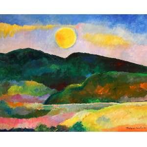 Aldemir Martins - Paisagem - Óleo sobre tela - 80 x 100 - 1990 - Ass. Canto inferior direito