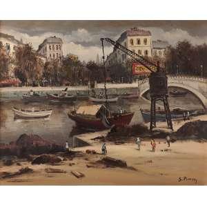 Sylvio Pinto - Paisagem francesa - Óleo sobre tela - 61 x 73 - 1979 - Ass. Canto inferior direito