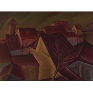 Carlos Bracher - Telhados de Ouro Preto - Óleo sobre tela - 46 x 61 - Ouro Preto 31/10 e 1/11/1974 - Ass. Canto inferior Direito e Verso - Nº 82 de 1974