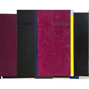 Eduardo Sued - Composição - Óleo sobre tela - 198 x 252 - 2009 - Ass. Verso - Com certificado emitido pelo artista