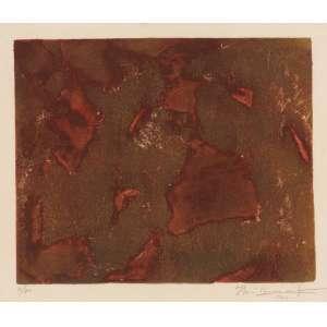 Iberê Camargo - Abstração - Litho 4/30 - 28 x 33 - 1960 - Ass. Canto inferior Direito