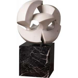 Bruno Giorgi - Meteoro - Escultura em mármore - 35 x 35 x 35 - Ass. parte inferior - Coleção Rodrigo Lima