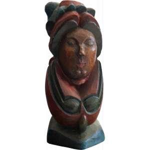 Maurino Araújo - Querubim - Escultura em madeira - 40 x 15 x 13 - 2006 - Ass. na base