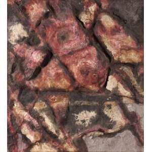 Frans Krajcberg - Sem Título - Óleo sobre papel moldado em tela - 84 x 71 - 1963 - Ass. Verso