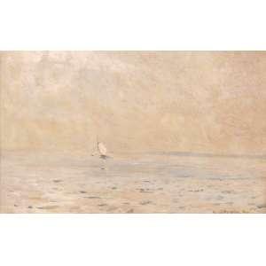 Giovanni Battista Castagneto - O pequeno barco - Óleo sobre madeira - 16 x 23 - 1891 - Ass. Canto inferior direito