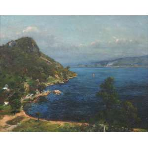 Luiz Graner Y arrufi - Costa do Mediterrâneo - Óleo sobre tela - 80 x 100 - Circa 1910 - Ass. Canto inferior Esquerdo