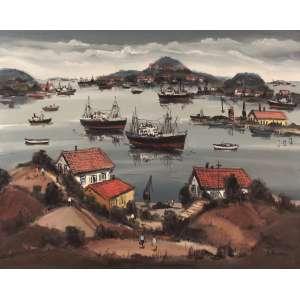 Sylvio Pinto - Ponta D'areia – Niterói - RJ - Óleo sobre tela - 60 x 80 - 1969 - Ass. Canto inferior direito