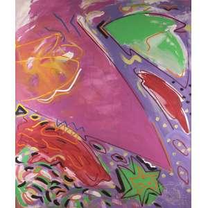 Ana Horta - O tubarão rosa - Acrílica sobre tela - 135 x 160 - 1985 - Ass. Verso
